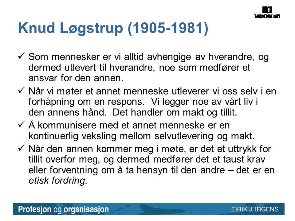 Knud Løgstrup (1905-1981)