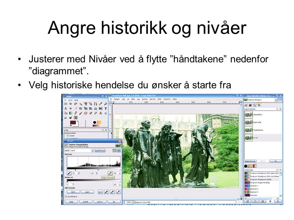 Angre historikk og nivåer