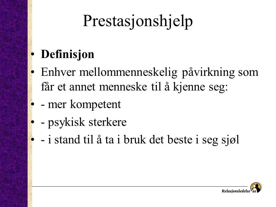 Prestasjonshjelp Definisjon