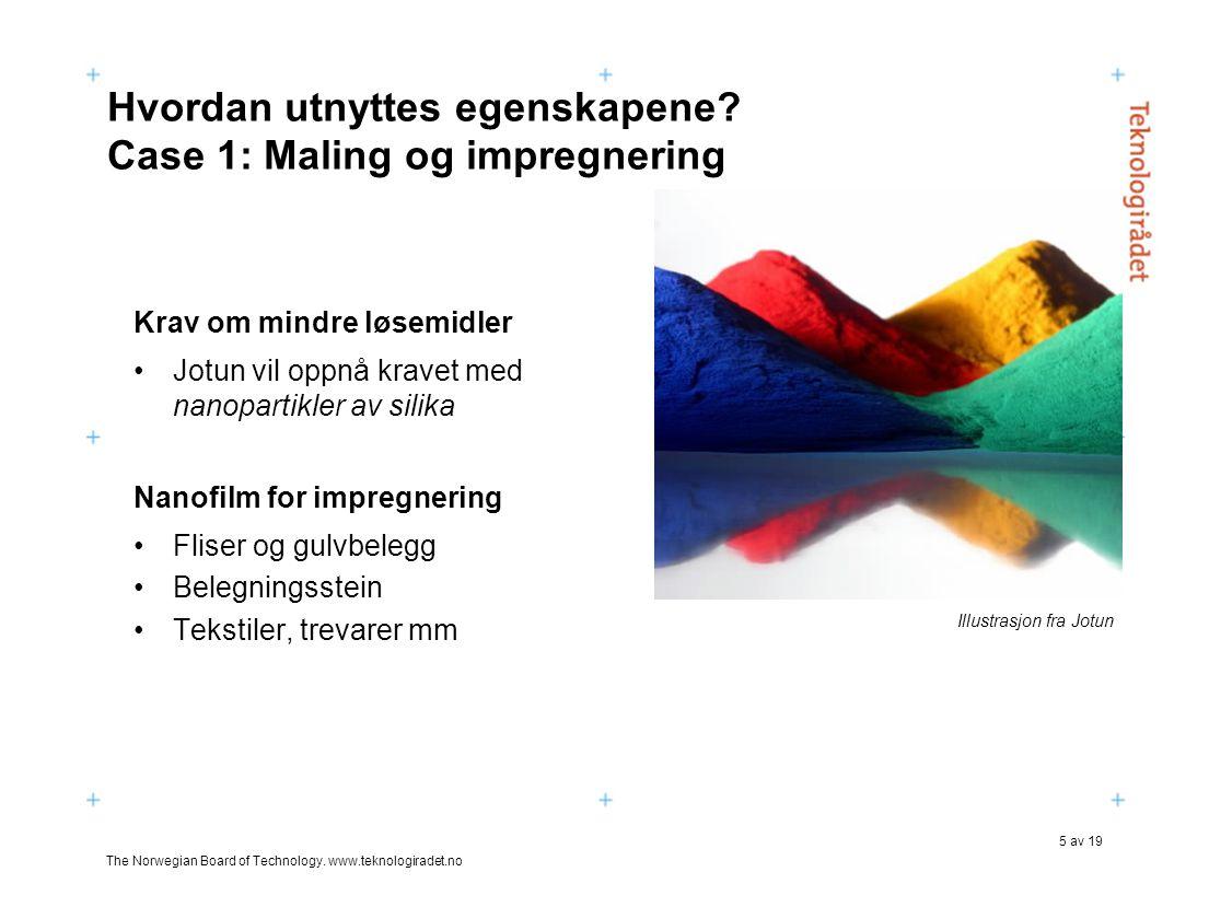 Hvordan utnyttes egenskapene Case 1: Maling og impregnering