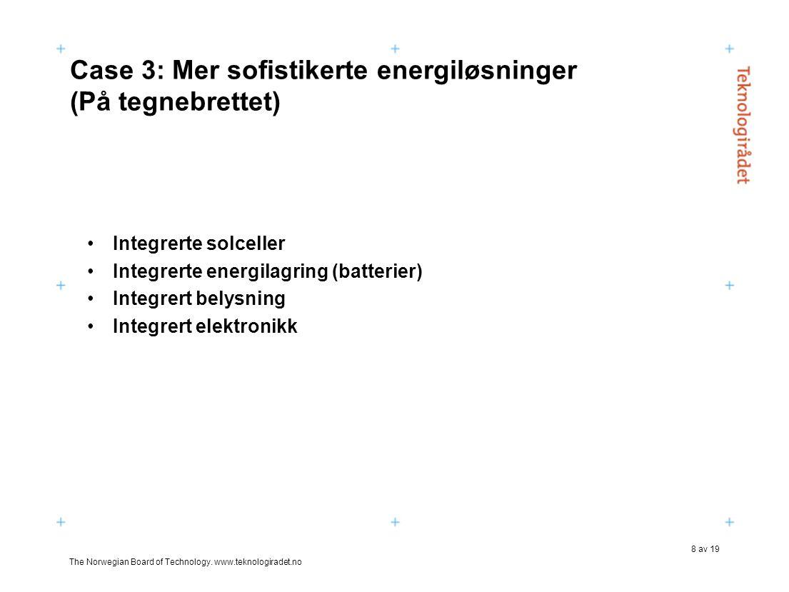 Case 3: Mer sofistikerte energiløsninger (På tegnebrettet)