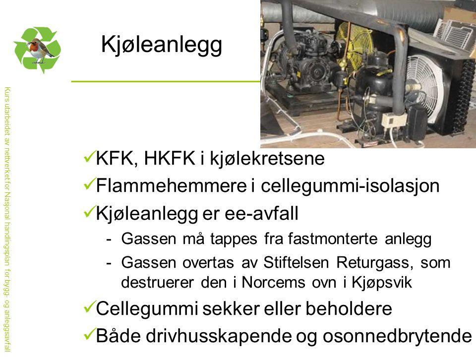 Kjøleanlegg KFK, HKFK i kjølekretsene