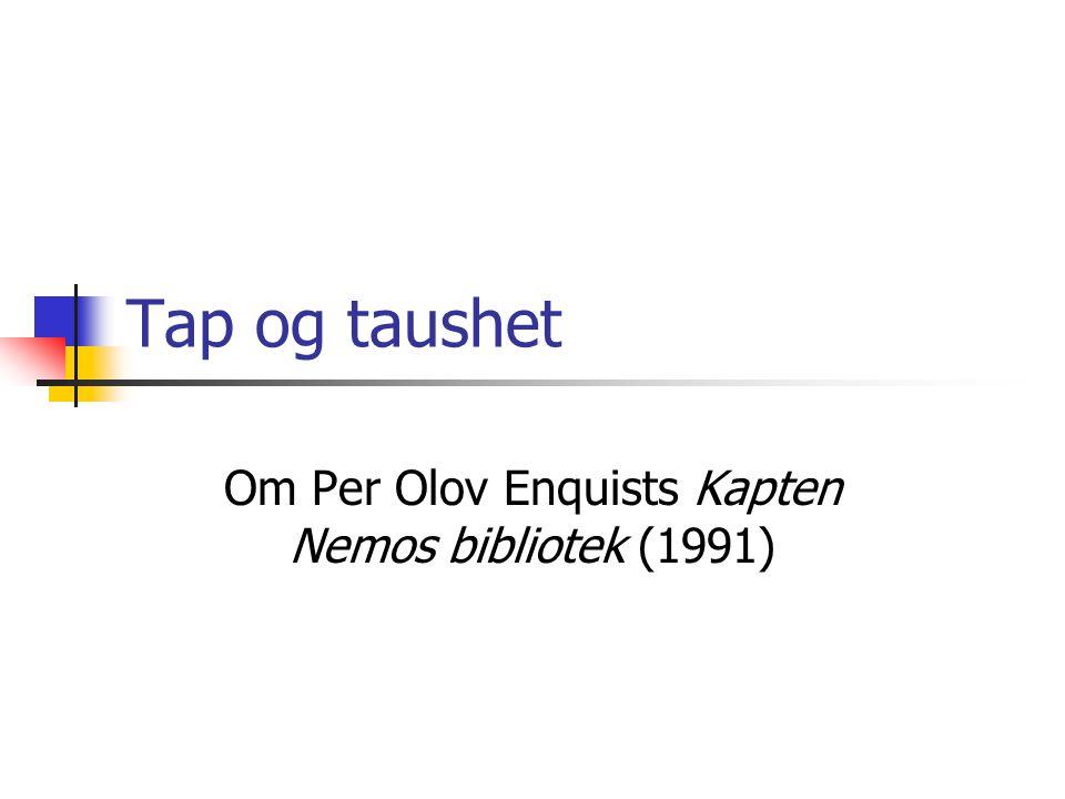Om Per Olov Enquists Kapten Nemos bibliotek (1991)
