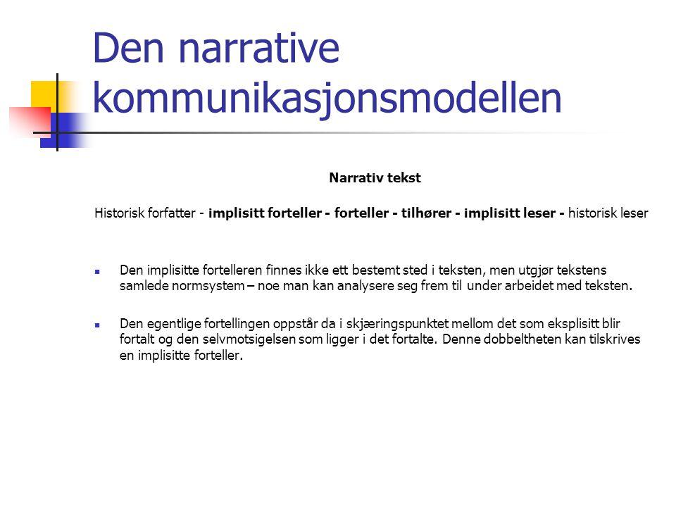 Den narrative kommunikasjonsmodellen