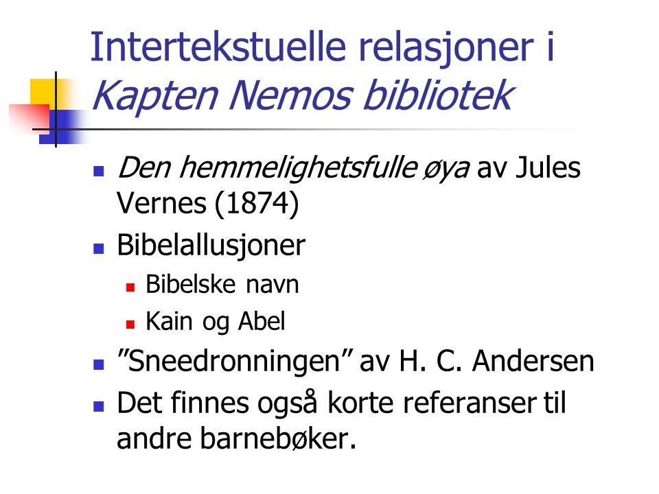 Intertekstuelle relasjoner i Kapten Nemos bibliotek