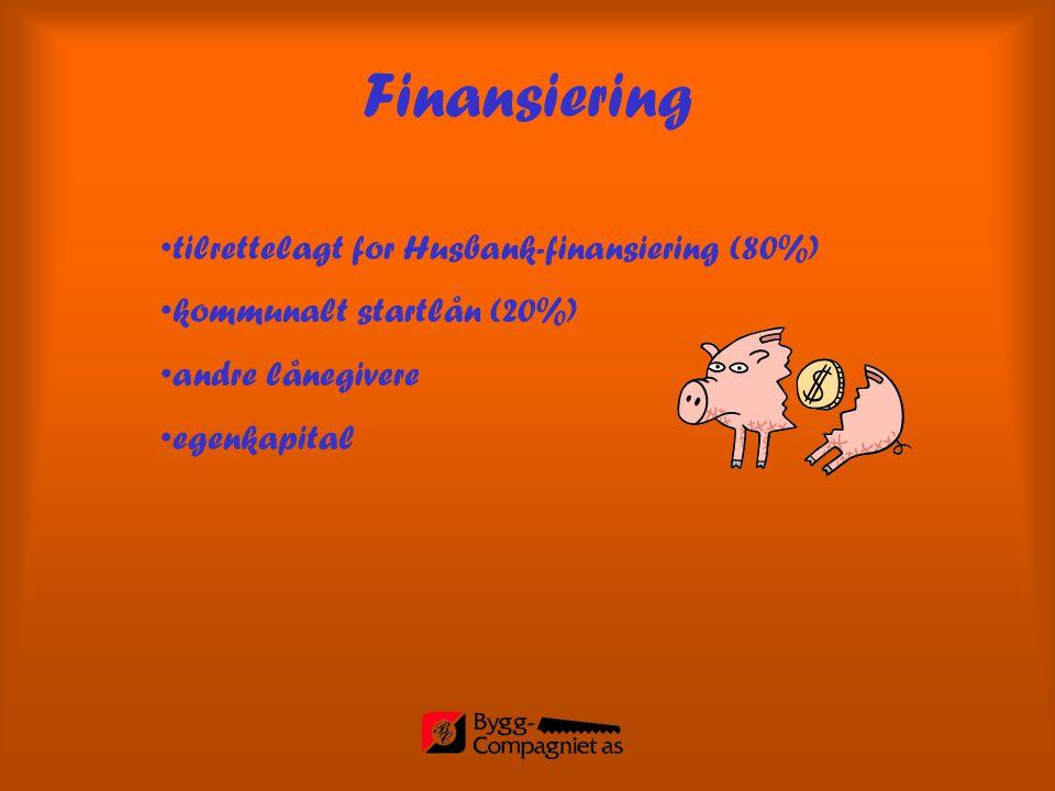 Finansiering tilrettelagt for Husbank-finansiering (80%)