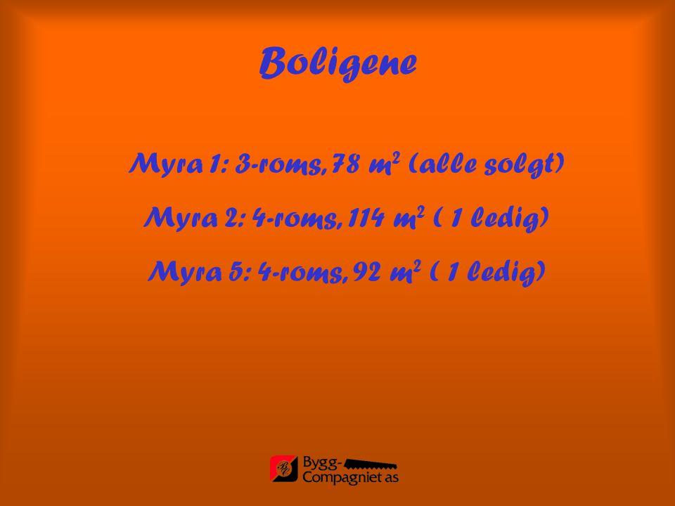 Myra 1: 3-roms, 78 m2 (alle solgt)