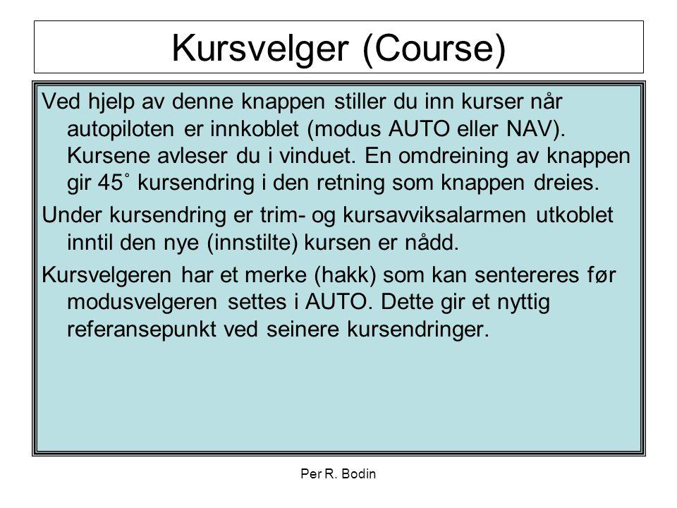 Kursvelger (Course)