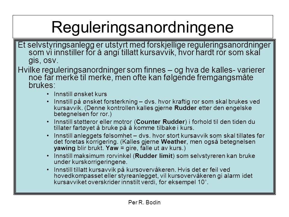 Reguleringsanordningene