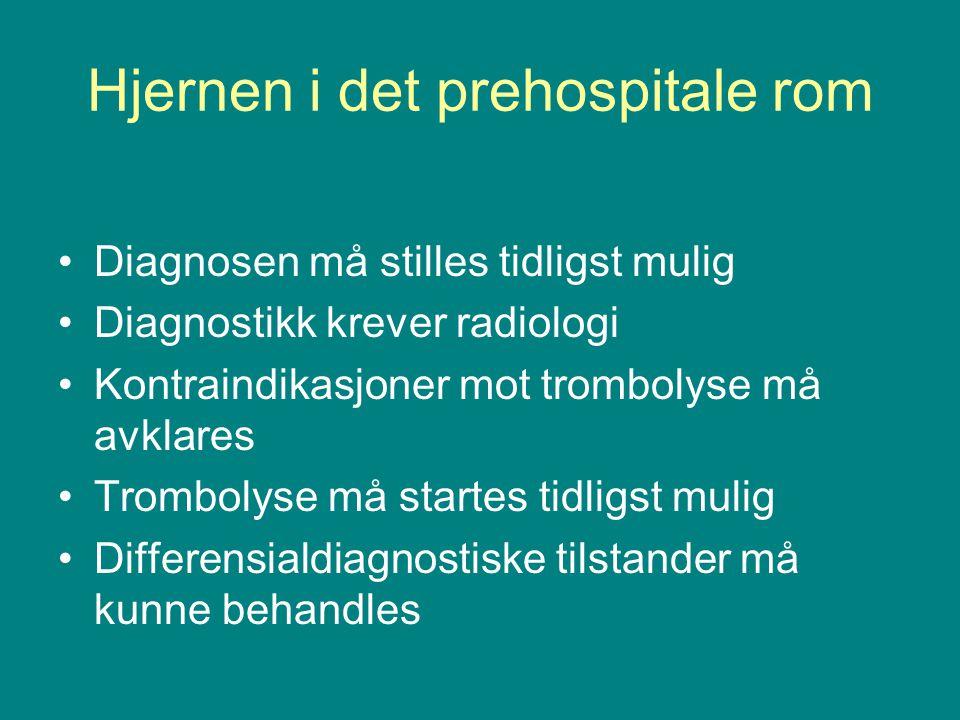 Hjernen i det prehospitale rom