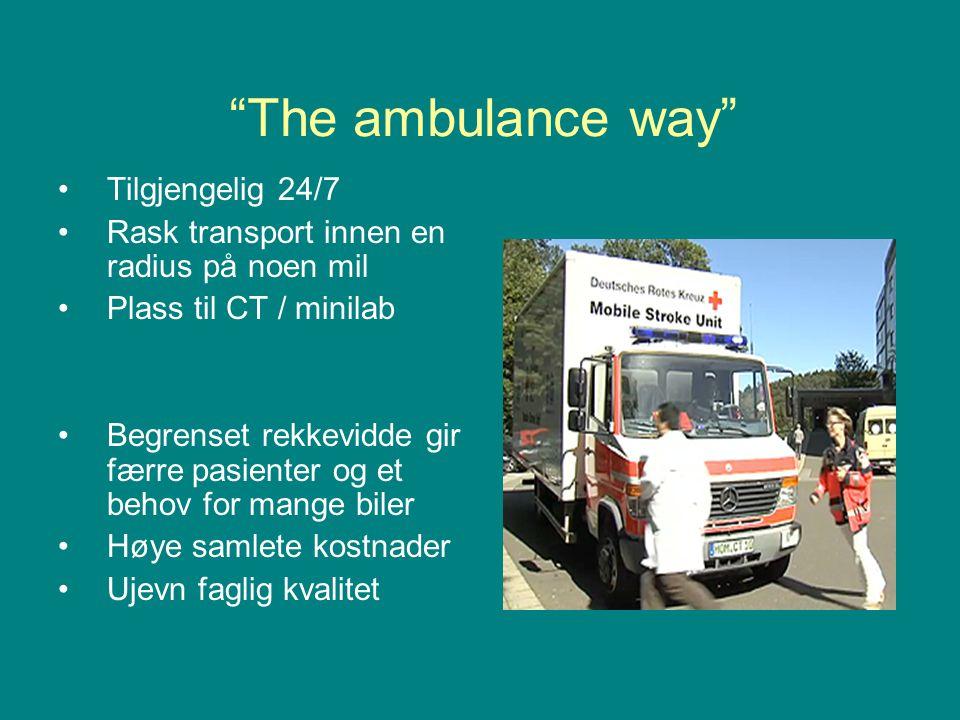 The ambulance way Tilgjengelig 24/7
