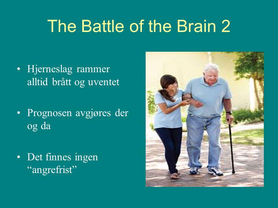 The Battle of the Brain 2 Hjerneslag rammer alltid brått og uventet