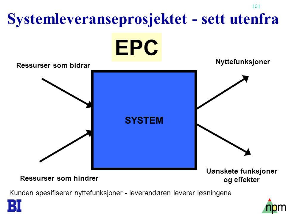 Systemleveranseprosjektet - sett utenfra