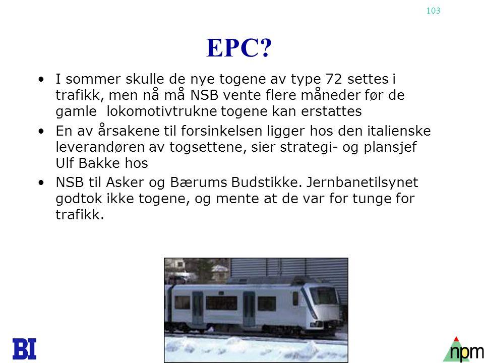 EPC I sommer skulle de nye togene av type 72 settes i trafikk, men nå må NSB vente flere måneder før de gamle lokomotivtrukne togene kan erstattes.