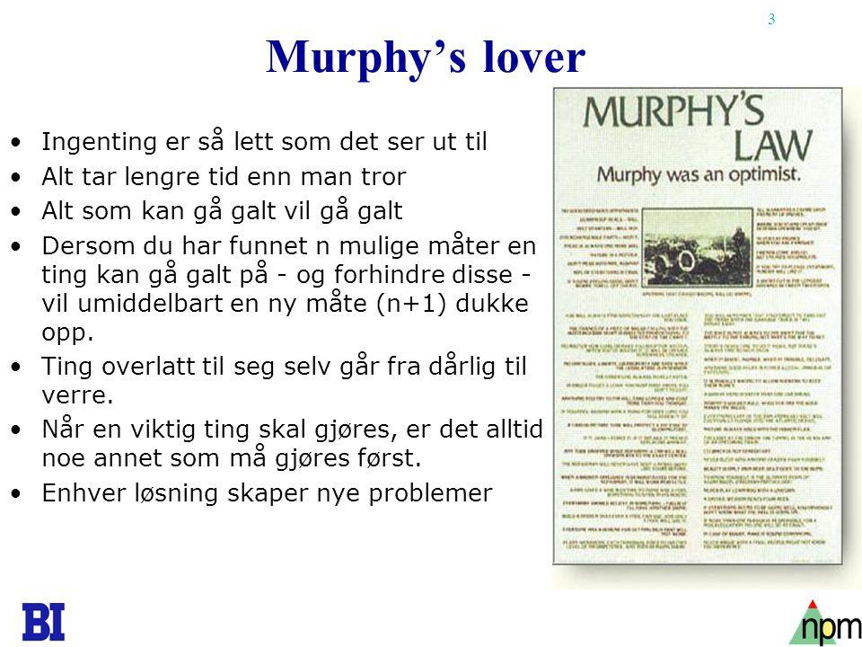 Murphy's lover Ingenting er så lett som det ser ut til