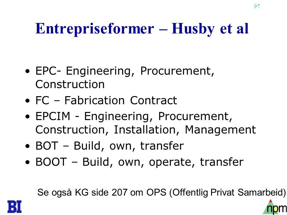 Entrepriseformer – Husby et al