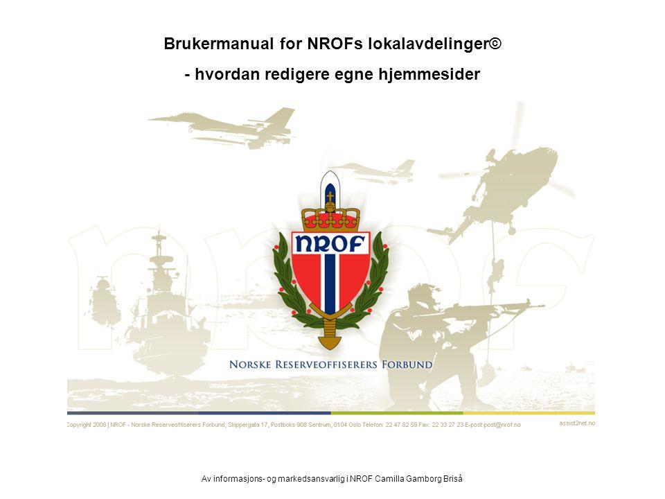 Brukermanual for NROFs lokalavdelinger©