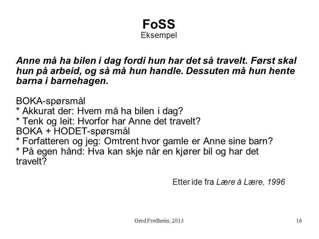 FoSS Eksempel
