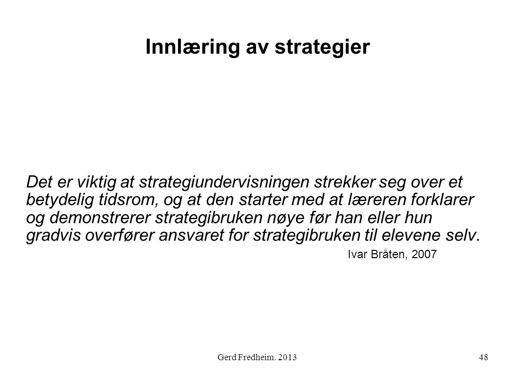 Innlæring av strategier