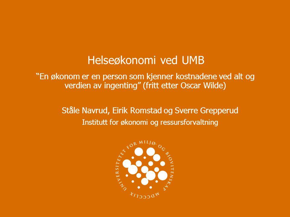 Ståle Navrud, Eirik Romstad og Sverre Grepperud