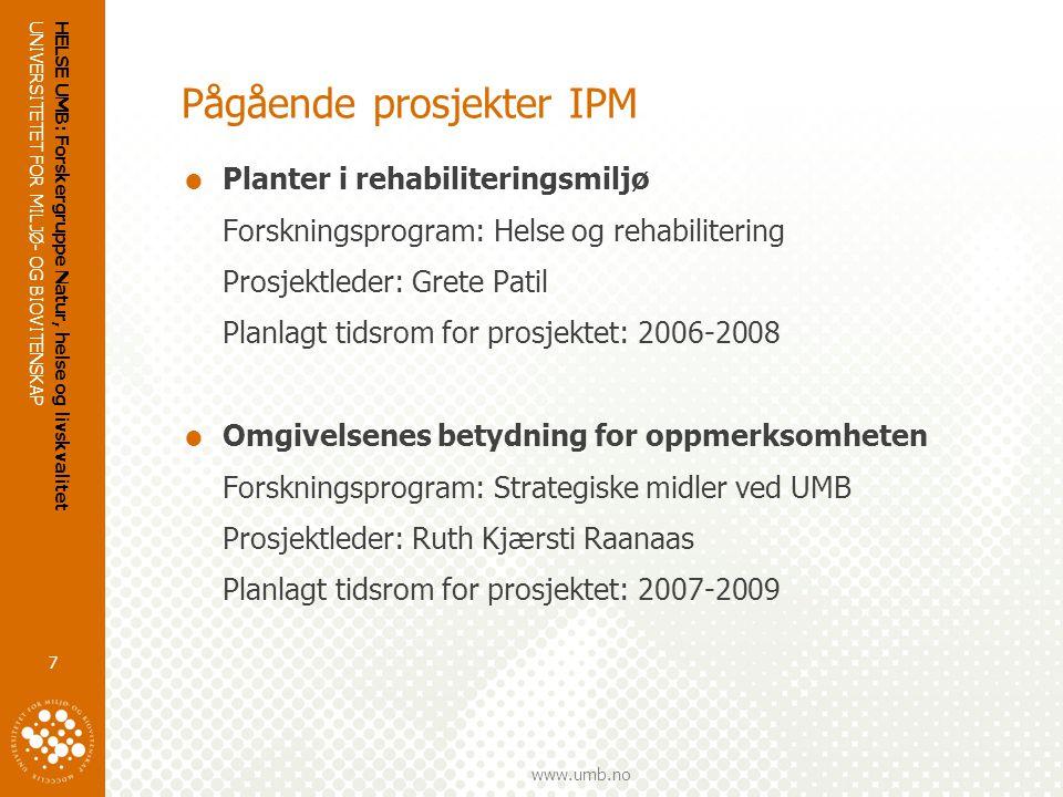 Pågående prosjekter IPM