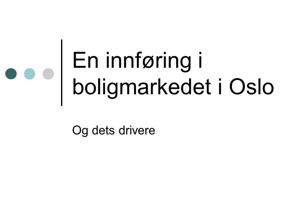 En innføring i boligmarkedet i Oslo