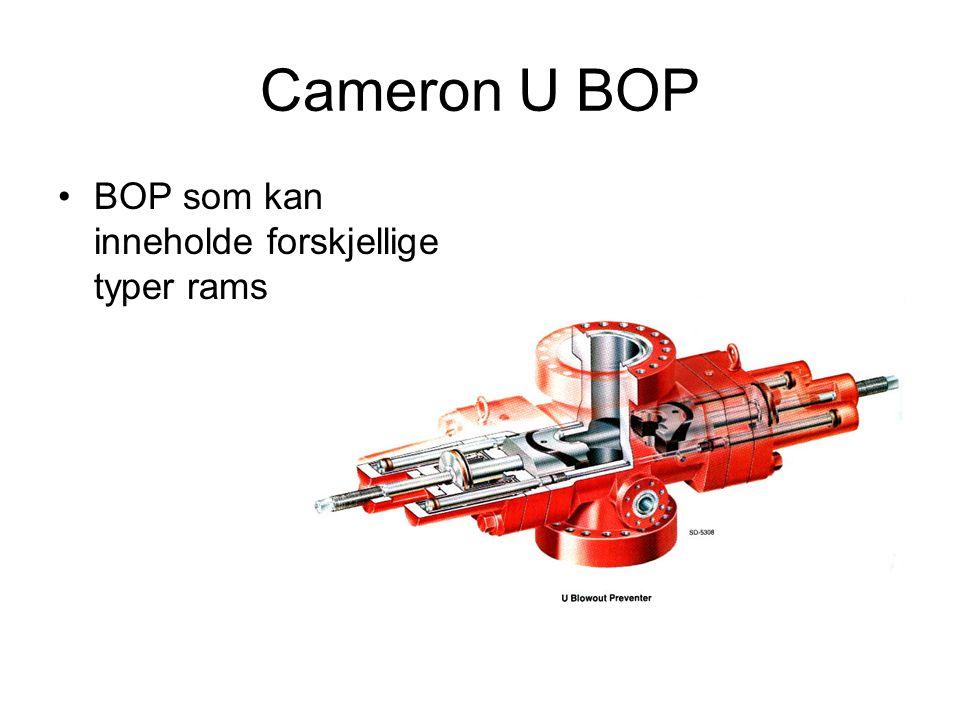 Cameron U BOP BOP som kan inneholde forskjellige typer rams