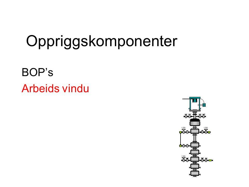 Oppriggskomponenter BOP's Arbeids vindu