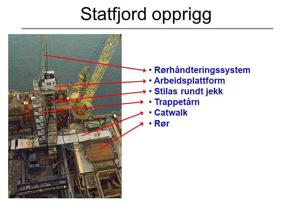 Statfjord opprigg Rørhåndteringssystem Arbeidsplattform