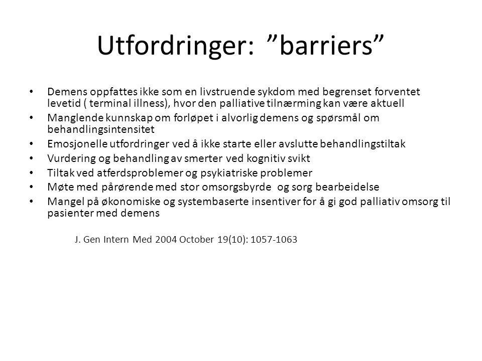 Utfordringer: barriers