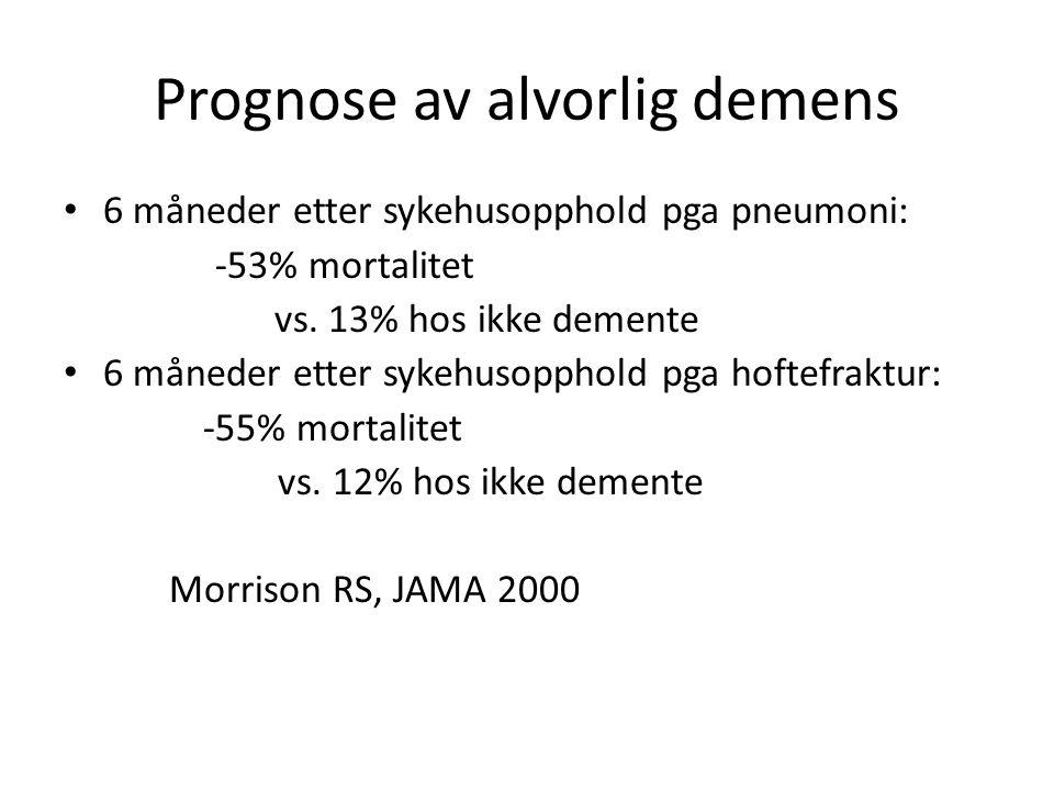 Prognose av alvorlig demens