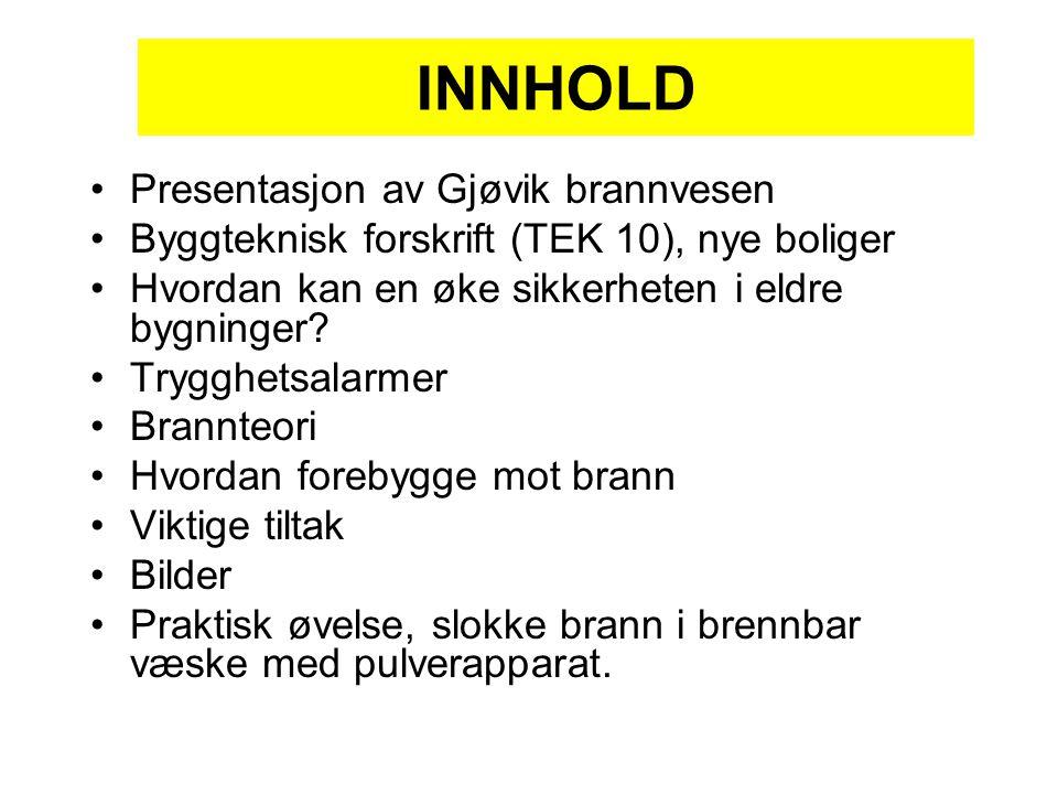 INNHOLD Presentasjon av Gjøvik brannvesen
