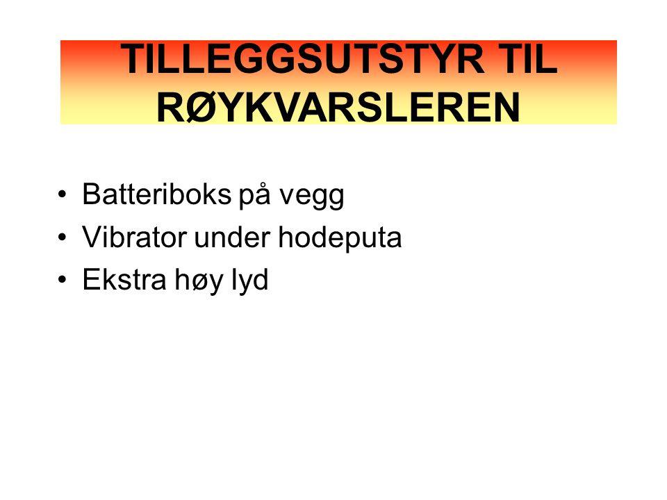 TILLEGGSUTSTYR TIL RØYKVARSLEREN