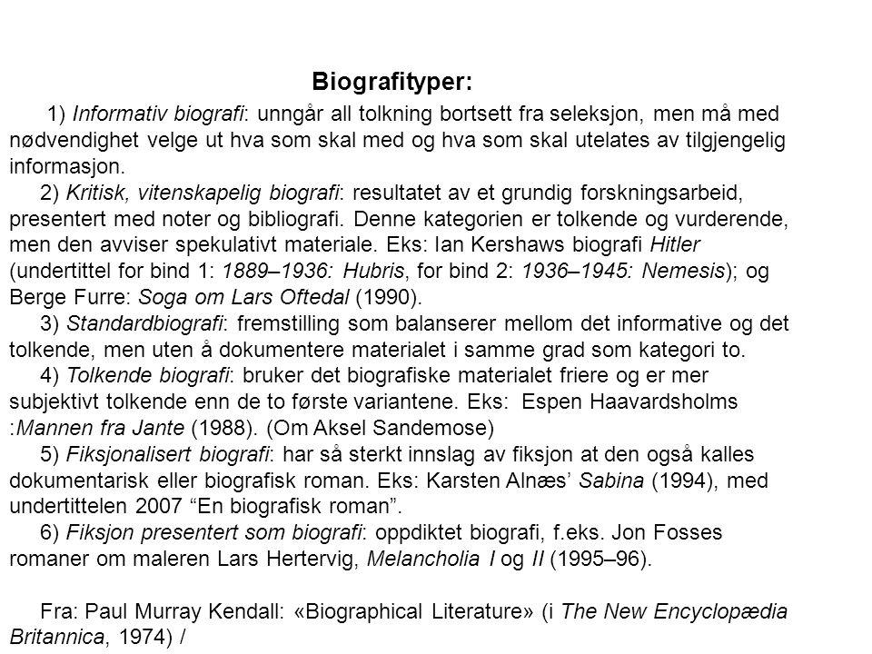 Biografityper: