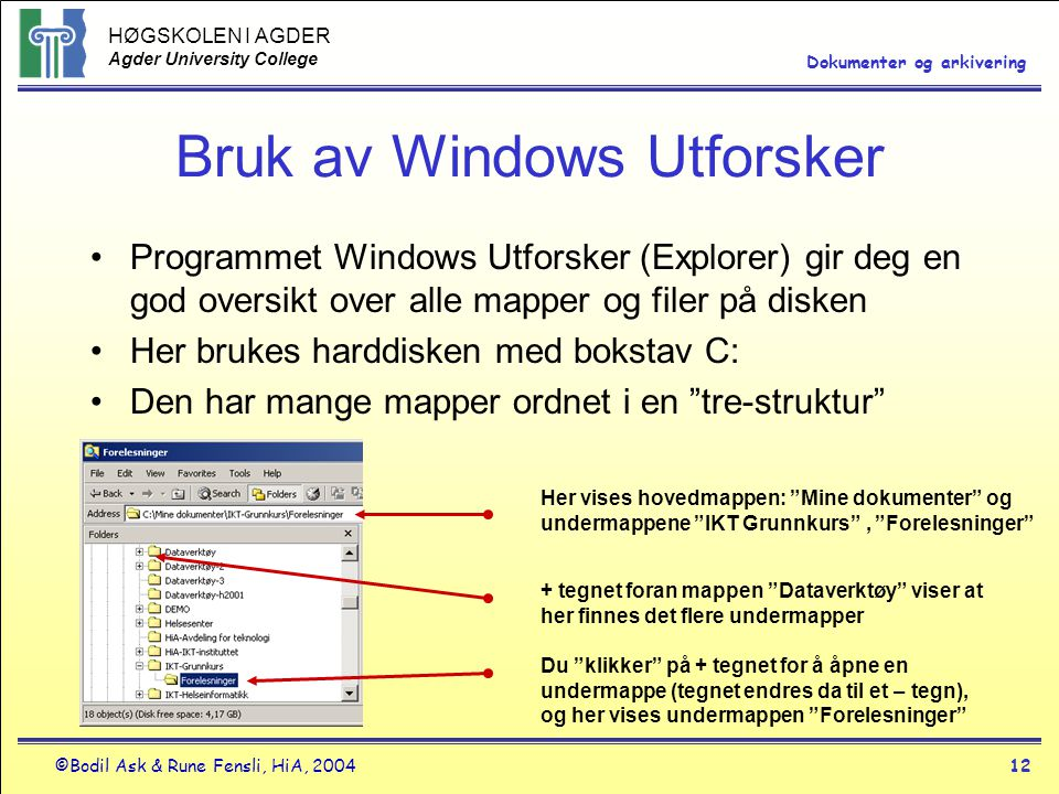 Bruk av Windows Utforsker
