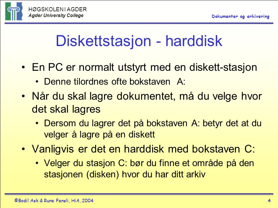 Diskettstasjon - harddisk