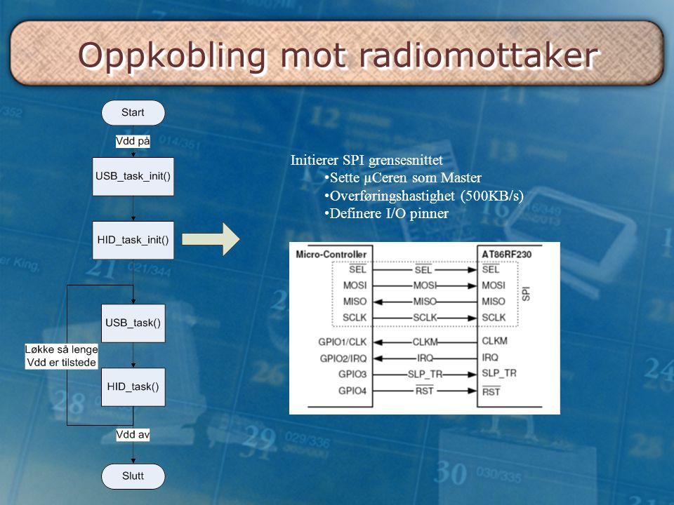 Oppkobling mot radiomottaker