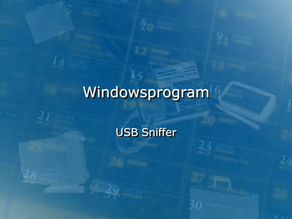 Windowsprogram USB Sniffer