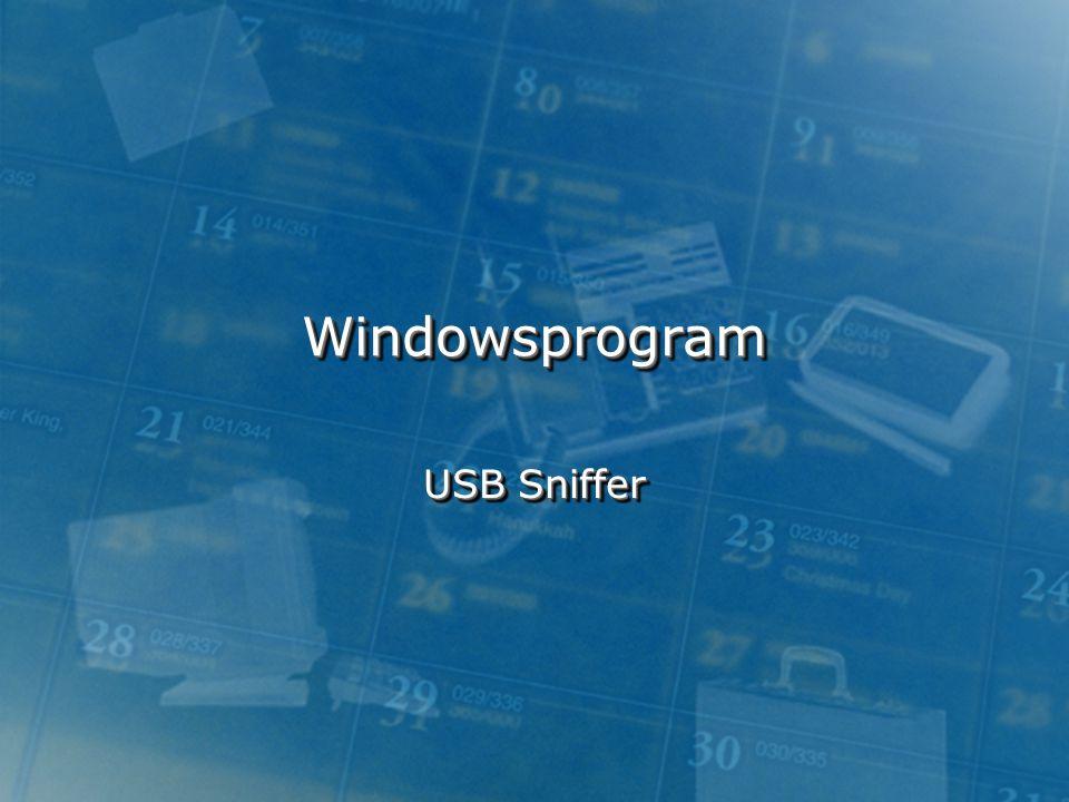 Windowsprogram USB Sniffer
