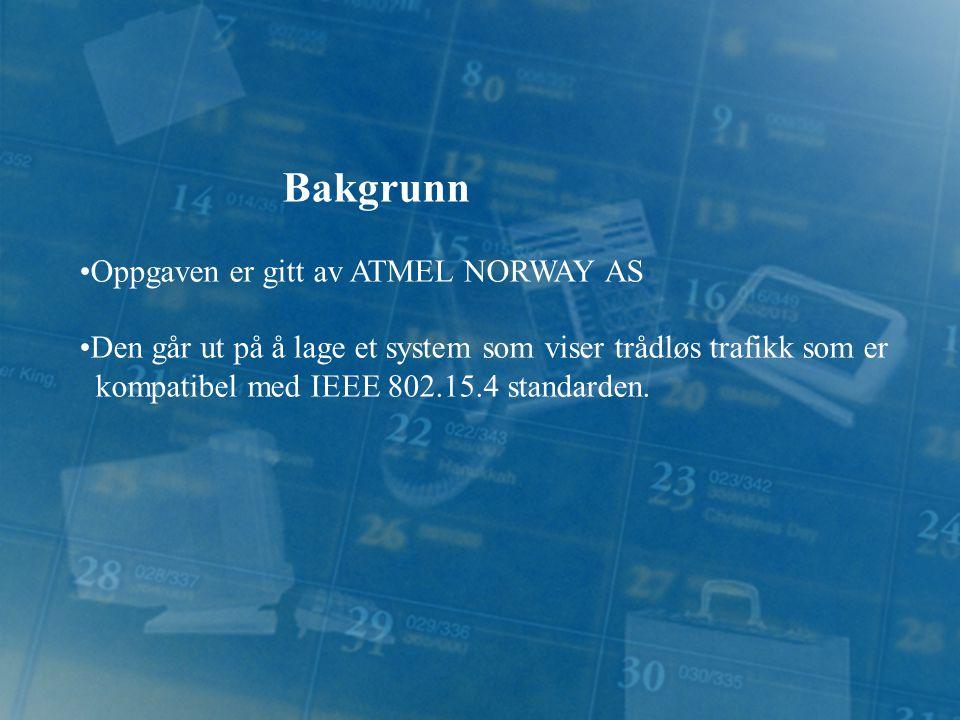 Bakgrunn Oppgaven er gitt av ATMEL NORWAY AS