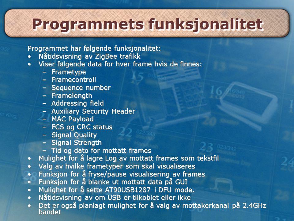 Programmets funksjonalitet