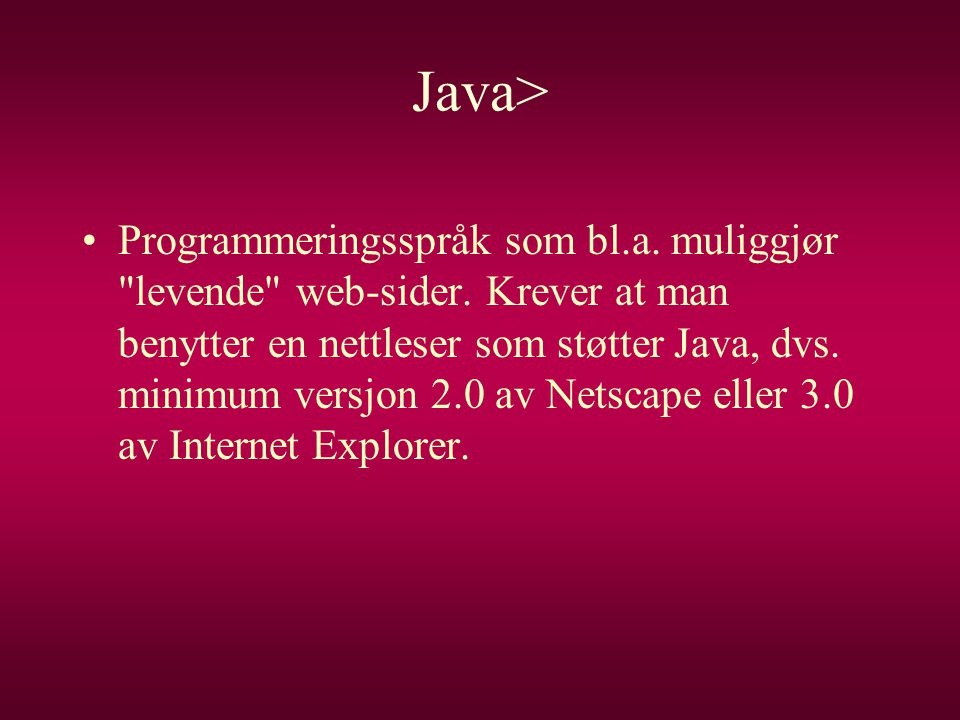 Java>
