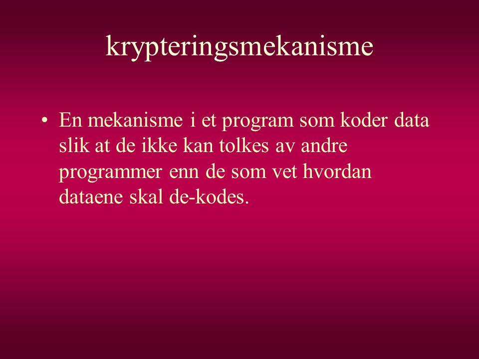 krypteringsmekanisme