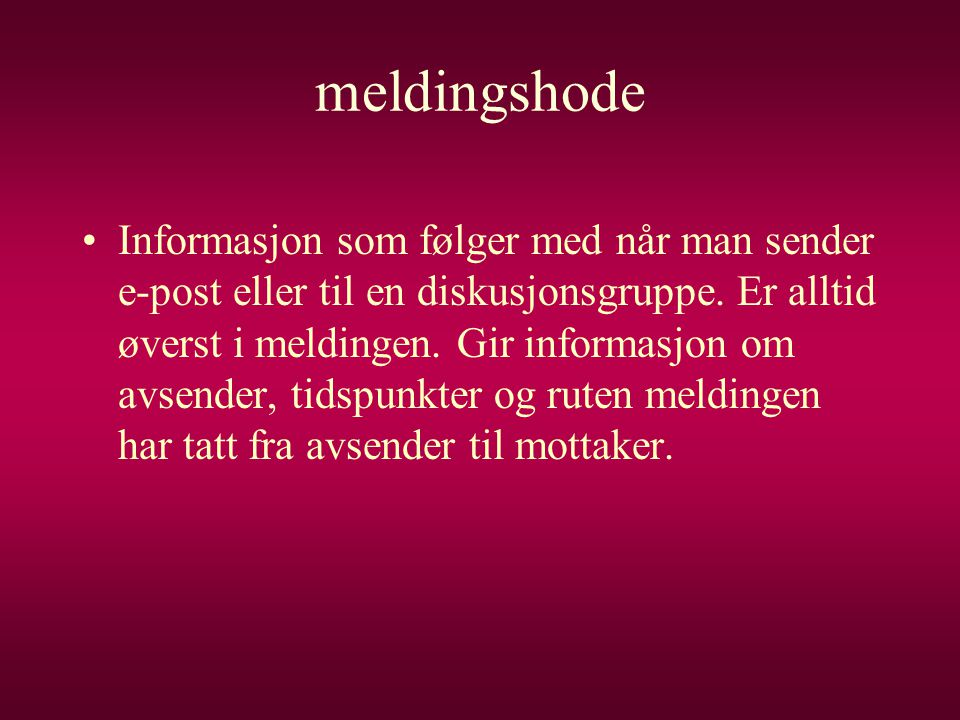 meldingshode