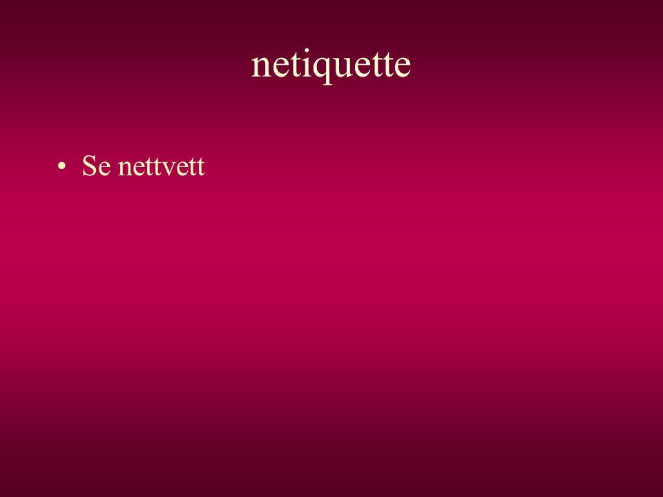 netiquette Se nettvett
