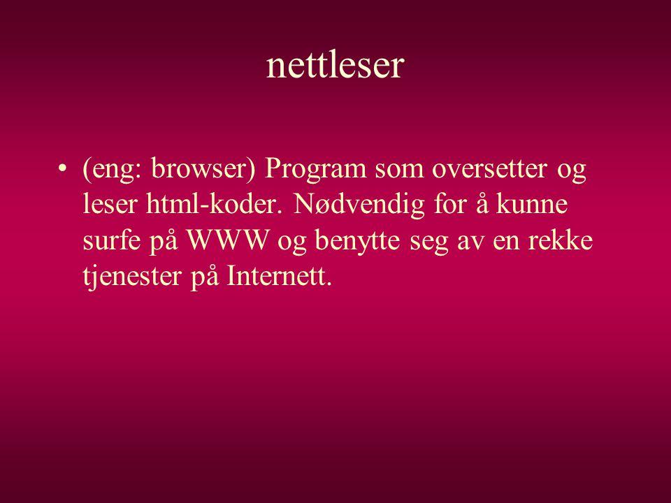 nettleser