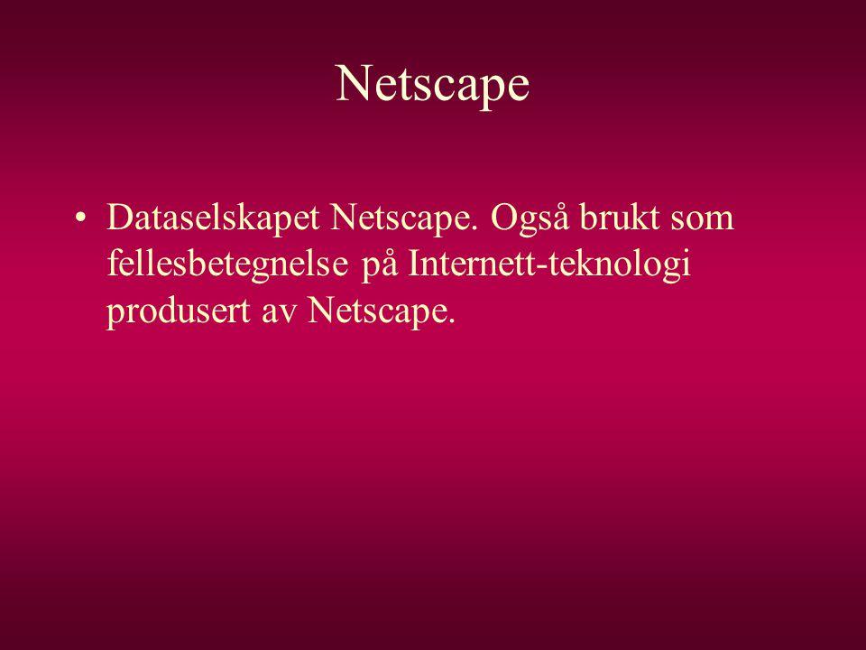 Netscape Dataselskapet Netscape.