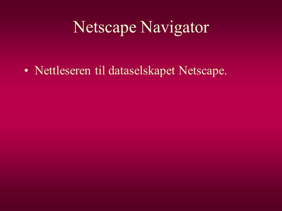 Netscape Navigator Nettleseren til dataselskapet Netscape.