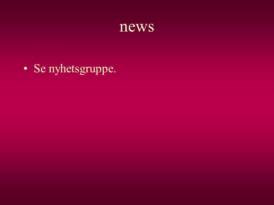 news Se nyhetsgruppe.