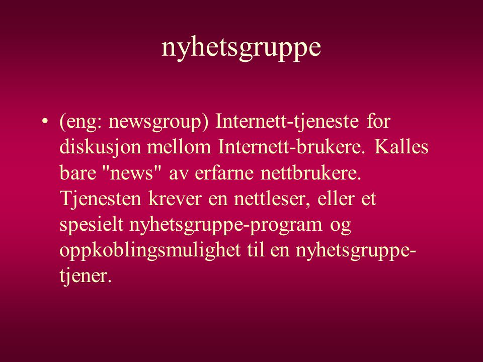 nyhetsgruppe